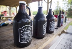 Growlers waiting to be opened
