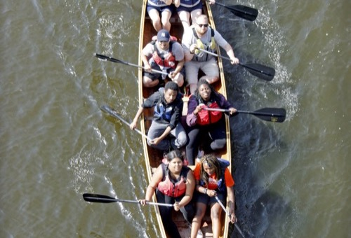 Voyageur Canoe from Above