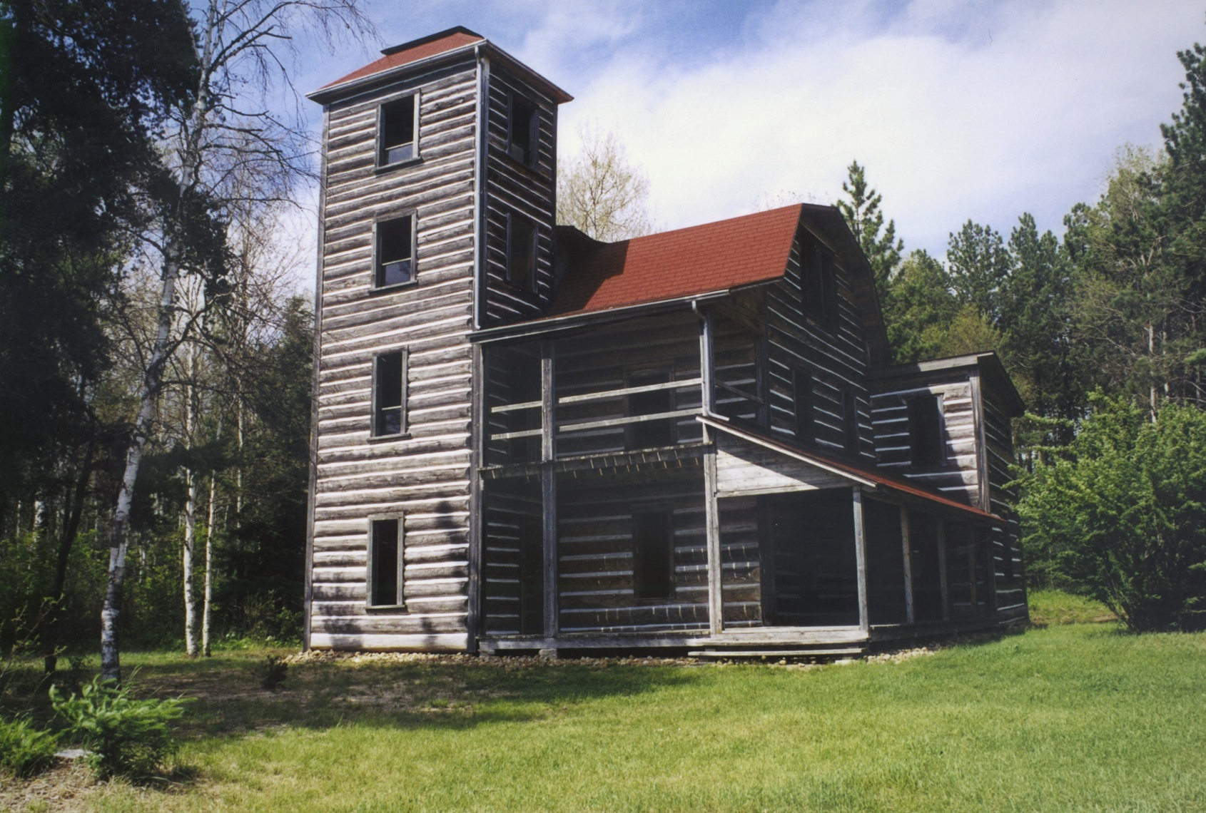 A large, historic three story cabin the remote White Otter Wilderness.