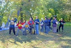 a group photo of participants and staff showing their excitement for canoemobile