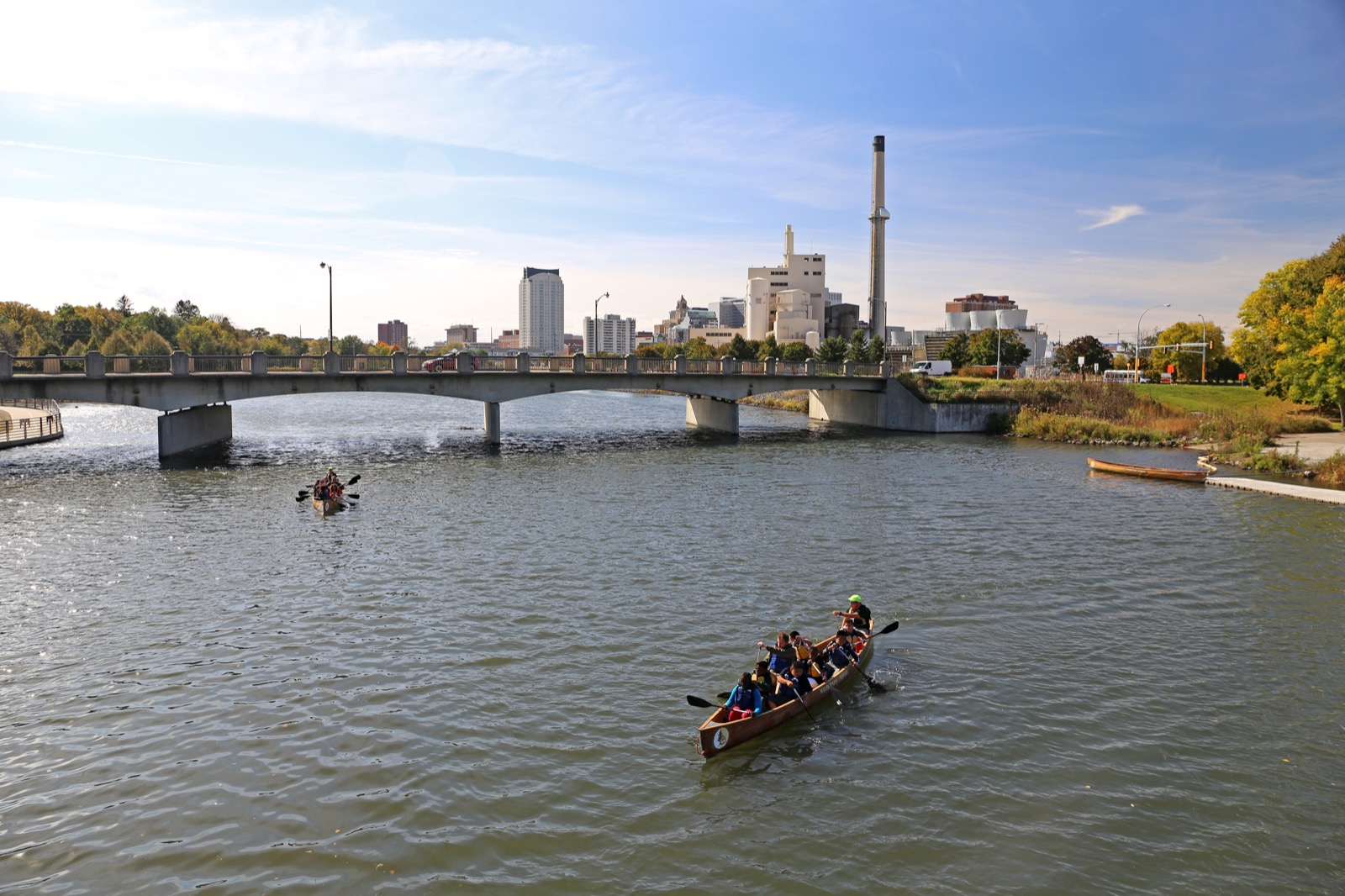 Canoeing in the shadow of Rochester
