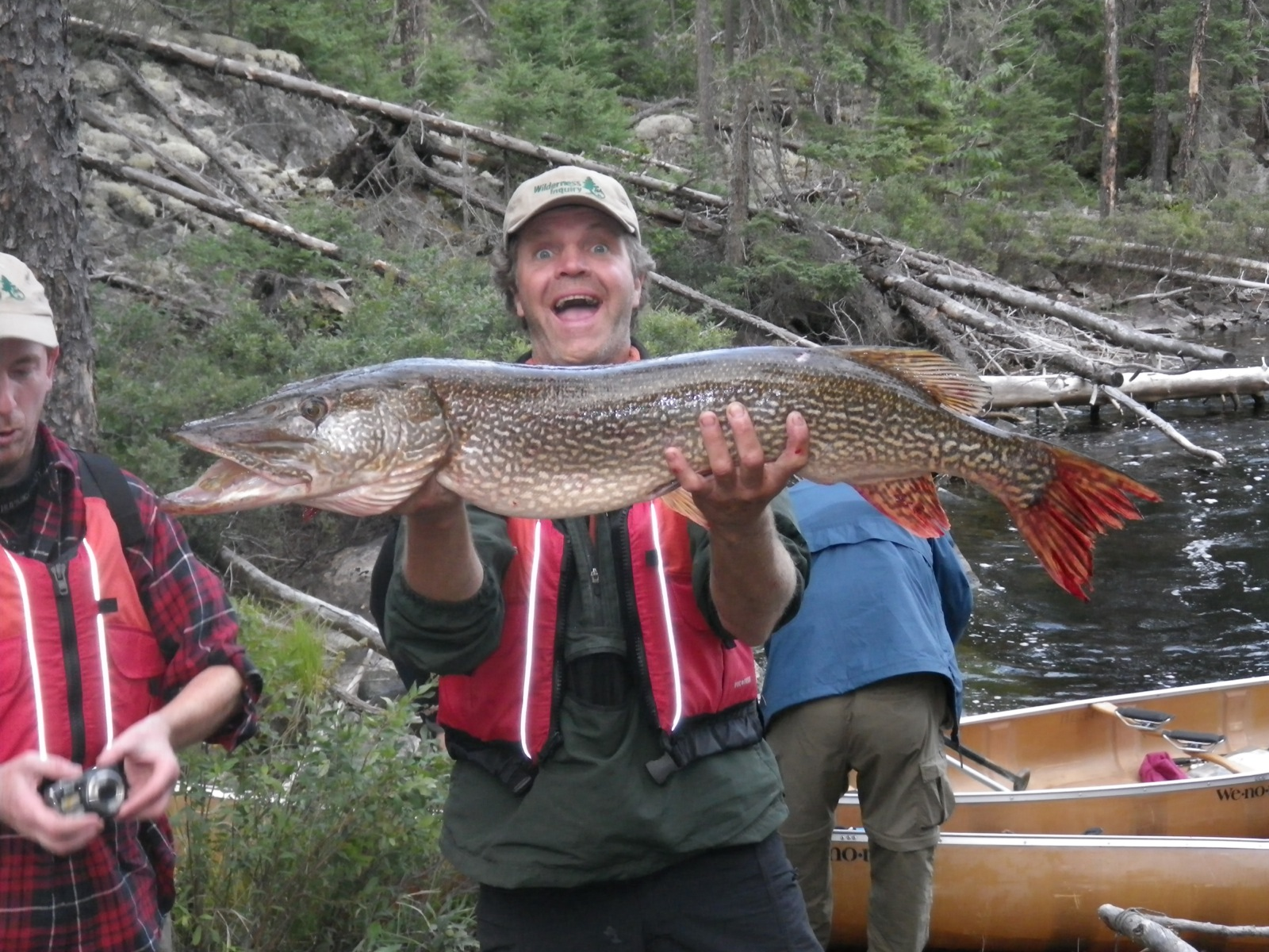 Paul poses with a large northern pike caught in the Wabakimi Provincial Park of Ontario.