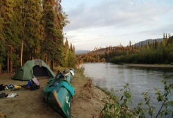 Big Salmon River provides excellent camping and canoeing in Canada's Yukon Territory