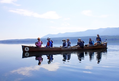 Yellowstone Lake Backcountry Canoe